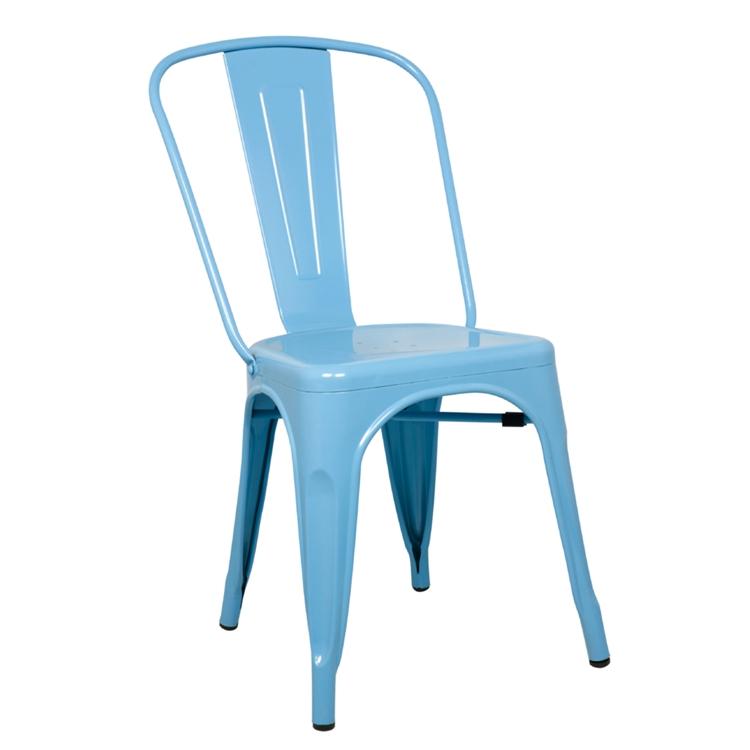 Enjoyable Tolix Marais Dining Chair Set Of 4 In Sky Blue Machost Co Dining Chair Design Ideas Machostcouk