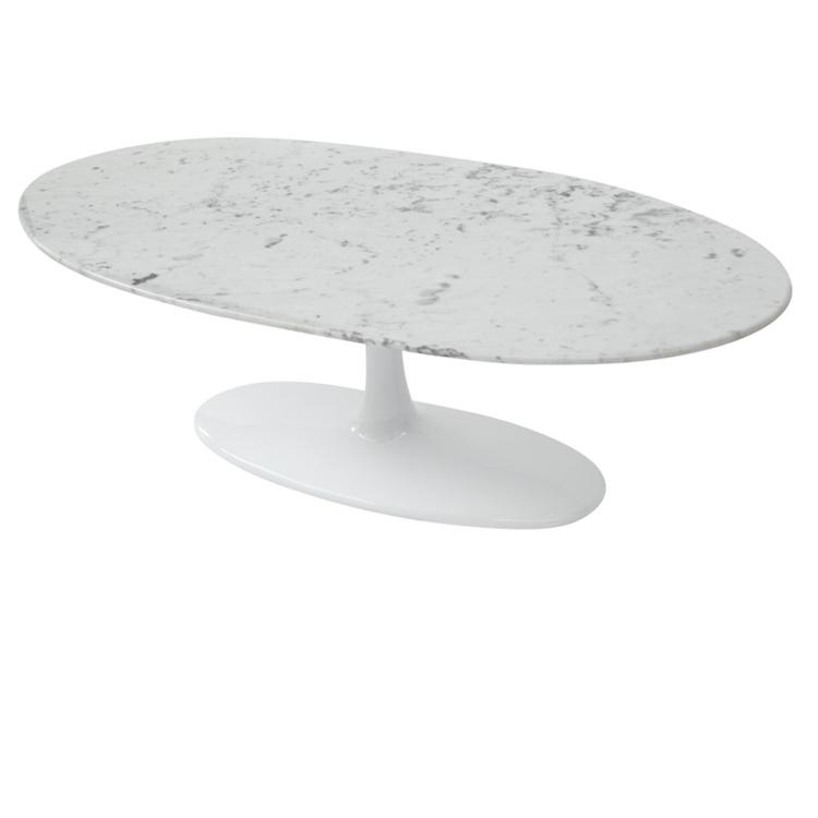 Eero Saarinen Table Tulip Coffee Oval Marble Top Reproduction