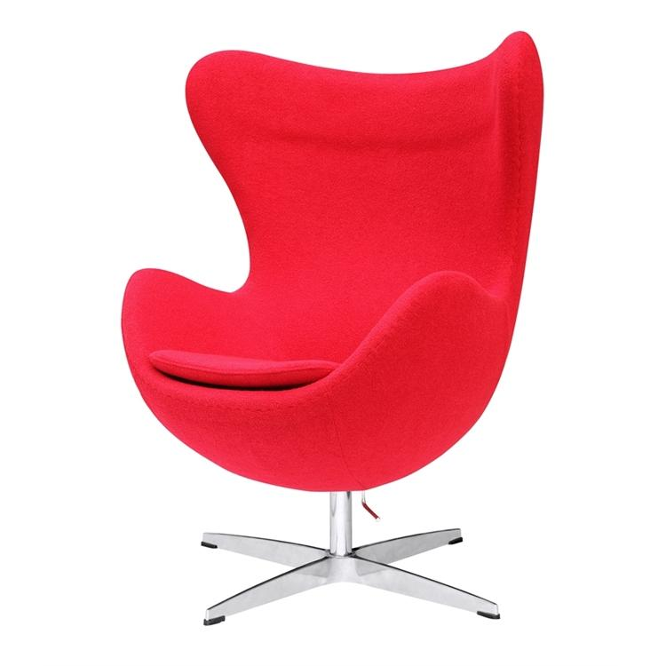 Arne Jacobsen Egg Chair.Arne Jacobsen Egg Chair In Red Wool Exclusive Mod