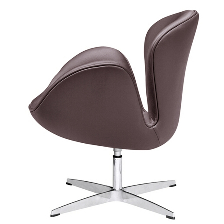 Arne Jacobsen Swan Chair In Dark Brown Leather