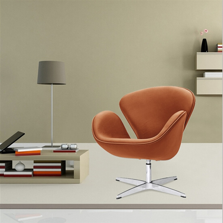 Arne Jacobsen Swan Chair In Light Brown Leather